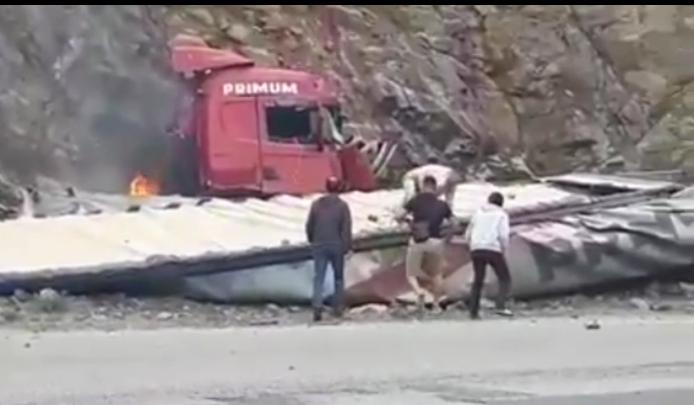 Өтмөк ашуусунда кырсык болуп, кыргыз балдар куткарышты