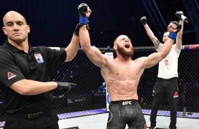 UFC: Рафаэль Физиев атаандашын биринчи раундда нокаутка түшүрдү
