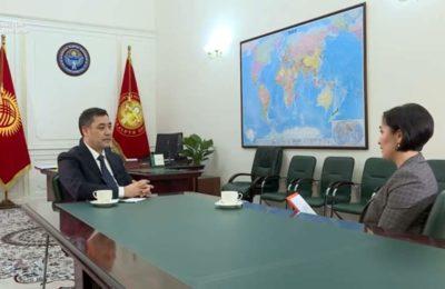 Садыр Жапаров «Азаттыкка» интервью берди
