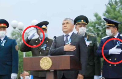 Видео. Гимн башталганда эмне кылышты билбеген аскерлер талкууга түштү
