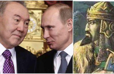 Путин Назарбаевге Кененсары Хандын башын таап берүүгө убада берди