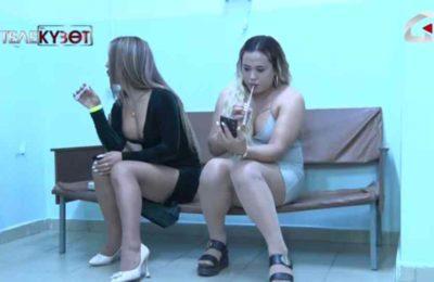 Видео. Бишкекте эркек менен кызга айланган эркектер ортосунда мушташ чыкты