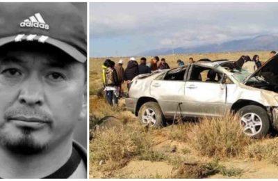 Авто кырсыктан Рысбек Акматбаевдин ата-энеси каза болду